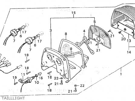 Honda CX500 1980 (A) SOUTH AFRICA parts lists and schematics