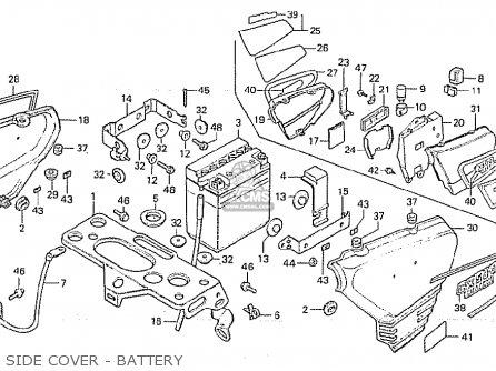Honda CX500 1981 (B) AUSTRALIA parts lists and schematics