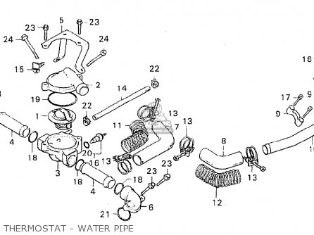 Honda CX500 1981 (B) AUSTRALIA parts lists and schematics