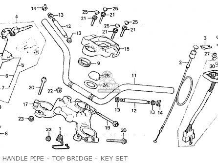 Honda Cx500 1981 (b) England parts list partsmanual partsfiche