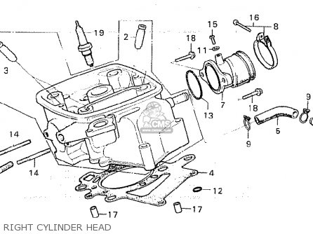 Honda CX500 1981 (B) ENGLAND parts lists and schematics