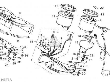 Honda Cx500 1981 (b) France parts list partsmanual partsfiche