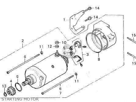 Honda CX500 1981 (B) FRANCE parts lists and schematics