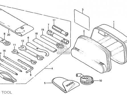 Honda Cx500 1981 (b) Italy parts list partsmanual partsfiche
