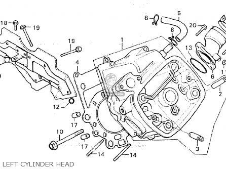 Honda Cx500c Custom 1981 (b) Denmark parts list