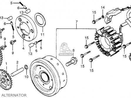 Honda Cx500d Deluxe 1979 (z) Usa parts list partsmanual