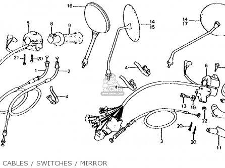 Honda CX500D DELUXE 1980 (A) USA parts lists and schematics