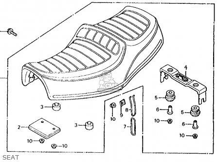 Honda Cx500d Deluxe 1980 (a) Usa parts list partsmanual