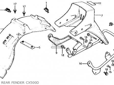 Honda Cx500d Deluxe 1981 (b) Usa parts list partsmanual