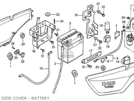 Honda CX500T TURBO 1982 (C) AUSTRALIA parts lists and