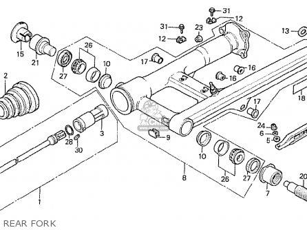 Honda Cx500t Turbo 1982 (c) England parts list partsmanual
