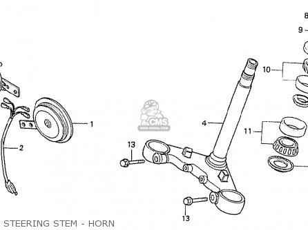 Honda Cx500t Turbo 1982 (c) France parts list partsmanual