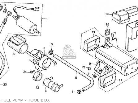 Honda Cx500t Turbo 1982 (c) Netherlands parts list