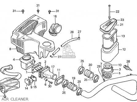 Honda Cx500t Turbo 1982 (c) Switzerland parts list