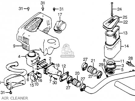 Honda Cx500t Turbo 1982 (c) Usa parts list partsmanual