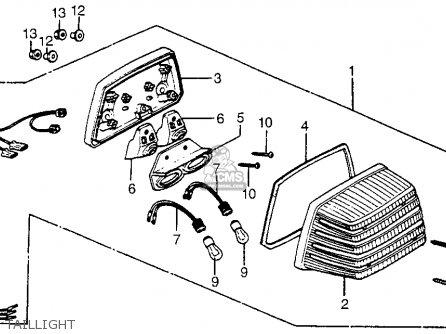 Honda Cx500tc 500 Turbo 1982 Usa parts list partsmanual