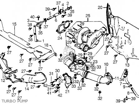 Honda Cx500tc 500 Turbo 1982 Usa parts list partsmanual