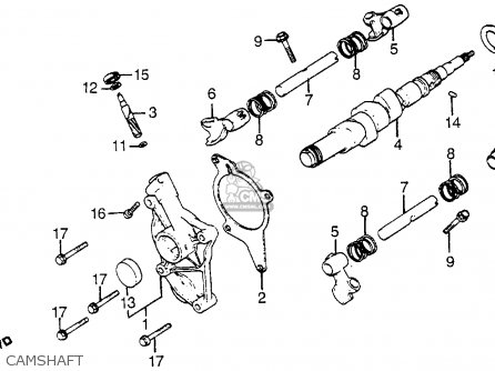Honda Cx650c Custom 1983 Usa parts list partsmanual partsfiche