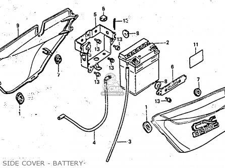 Honda Cx650e 1983 (d) England parts list partsmanual