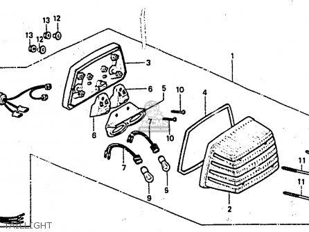 Honda CX650E 1983 (D) ENGLAND parts lists and schematics