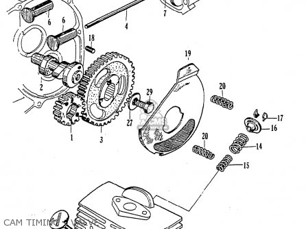 Honda Cz100 parts list partsmanual partsfiche