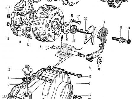 Honda Cz100 parts list partsmanual partsfiche