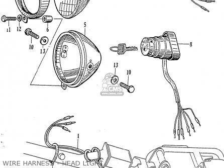 Honda CZ100 parts lists and schematics
