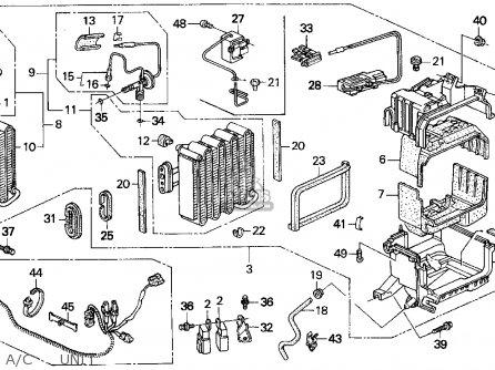 Honda Del Sol 1995 2dr V-tec Abs ka A c Unit