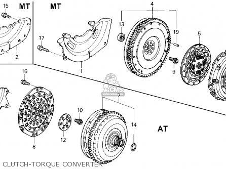 Honda Del Sol 1995 2dr V-tec Abs ka Clutch-torque Converter