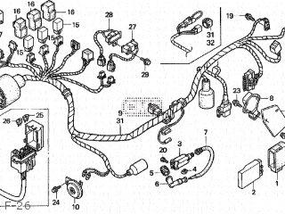 Honda FES250 FORESIGHT 1997 (V) JAPAN MF04-100 parts lists