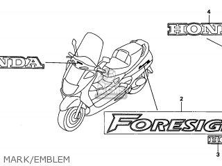 Honda FES250 FORESIGHT 1998 (W) BELGIUM KPH parts lists