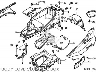 Honda FES250 FORESIGHT 1998 (W) NETHERLANDS KPH parts