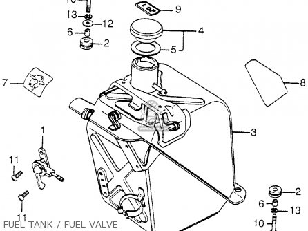 Honda FL250 1984 (E) USA parts lists and schematics