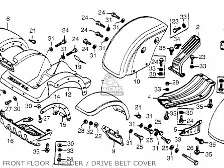 Honda Fl250 Odyssey 1978 Usa parts list partsmanual partsfiche