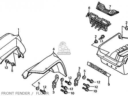 Honda Fl350r Odyssey 350 Usa parts list partsmanual partsfiche