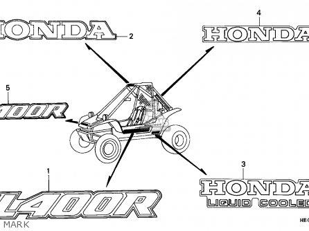 Honda FL400R PILOT 1990 (L) EUROPEAN DIRECT SALES parts