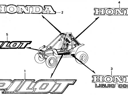 Honda FL400R PILOT 1990 (L) USA parts lists and schematics