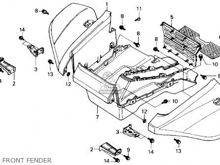 Honda Fl400r Pilot 1990 Usa parts list partsmanual partsfiche