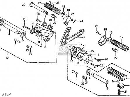 Honda Ft500 Ascot 1982 (c) Usa parts list partsmanual