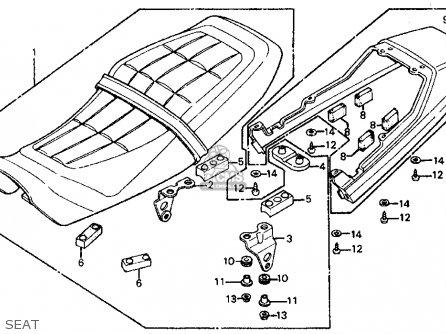 Honda Ft500 Ascot 1982 Usa parts list partsmanual partsfiche