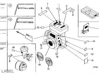 Honda G400K1\LA\1089001 parts lists and schematics