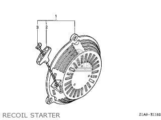 Honda GC190A\DHAF\14Z1A0E5 parts lists and schematics