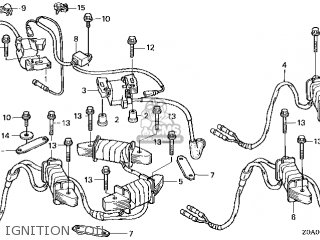 Honda Gcv520\qxa4\14z0a0e7 parts list partsmanual partsfiche