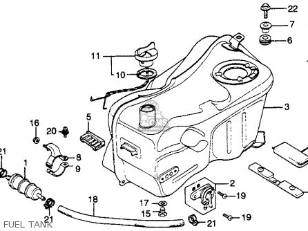 Honda Gl1000 Gold Wing 1979 Usa parts list partsmanual