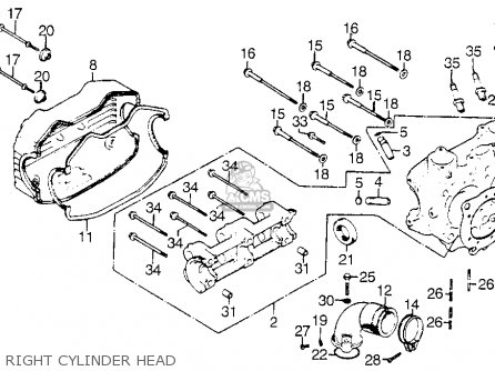 Honda Gl1000 Gold Wing K0 1975 Usa parts list partsmanual