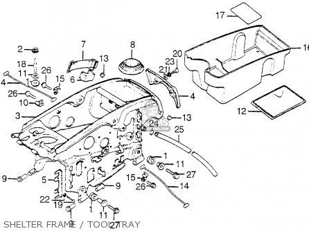 Honda Gl1000 Goldwing 1975 Gl1000k0 Usa parts list
