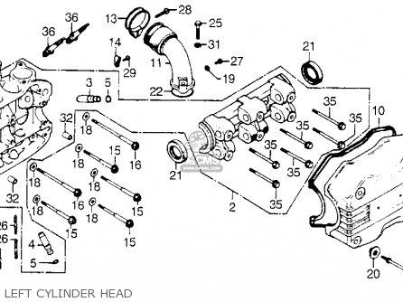 Honda GL1000 GOLDWING 1975 K0 USA parts lists and schematics