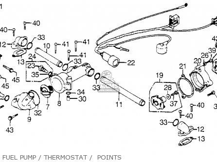 Honda Gl1000 Goldwing 1976 Usa parts list partsmanual