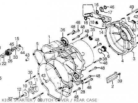 Honda GL1000 GOLDWING 1976 USA parts lists and schematics