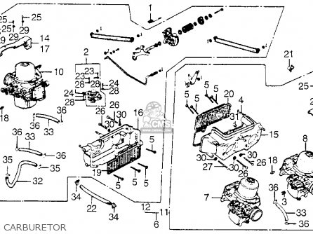 Honda Gl1000 Goldwing 1977 Usa parts list partsmanual